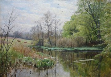 """Spring at a Stream"""