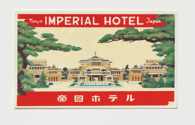 """Imperial Hotel, Japan, Luggage Label"""