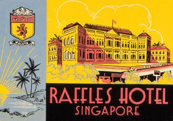 """Raffles Hotel, Singapore, Luggage Label"""