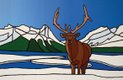 """Wapiti at Ha Ling Lake"""
