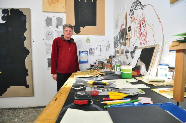 """Bill Rodgers in his Calgary studio"""
