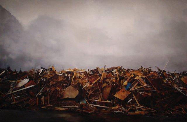 """""""Exshaw Lumber Pile"""""""