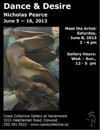 """""""Dance and Desire"""" exhibition poster"""