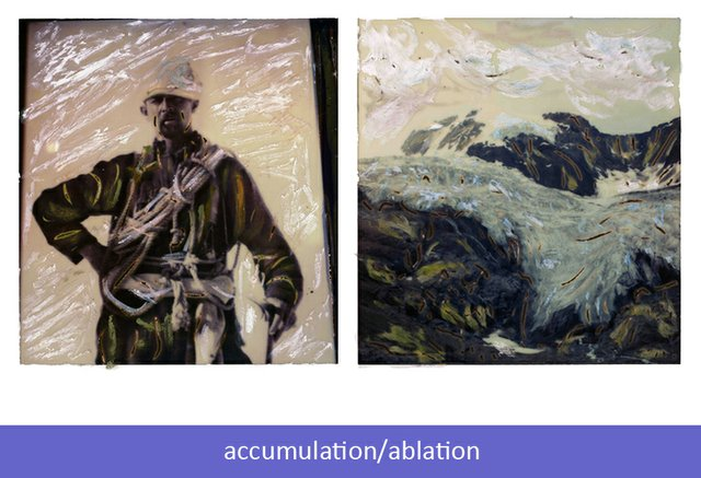 """Conrad Kain/Jumbo Glacier (2 photographs)"""