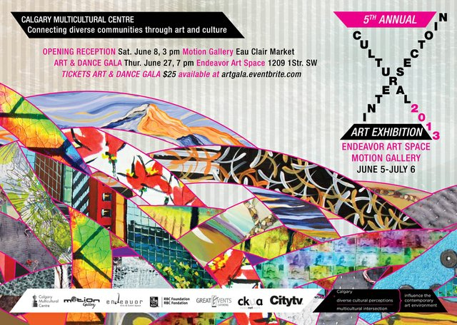 "Poster for ""Cultural Intersection"" Exhibition"