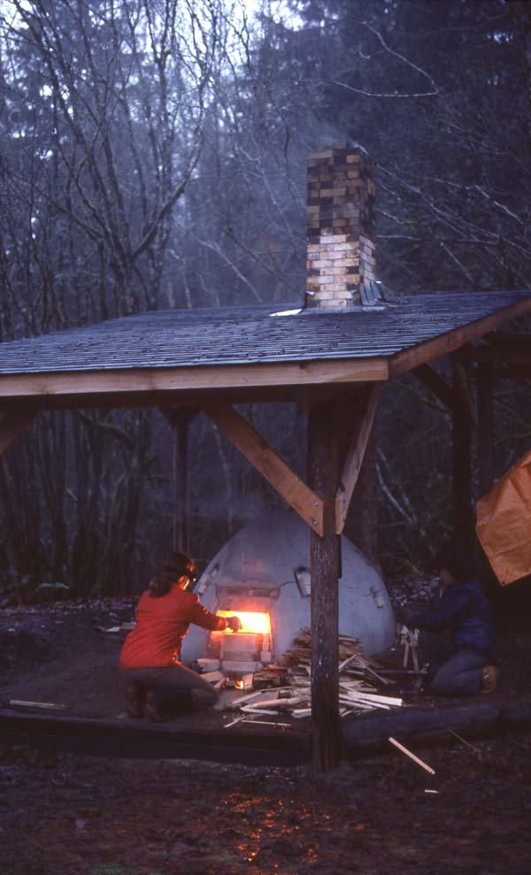 """Andrew Wong's wood kiln, Ruskin, B.C"""