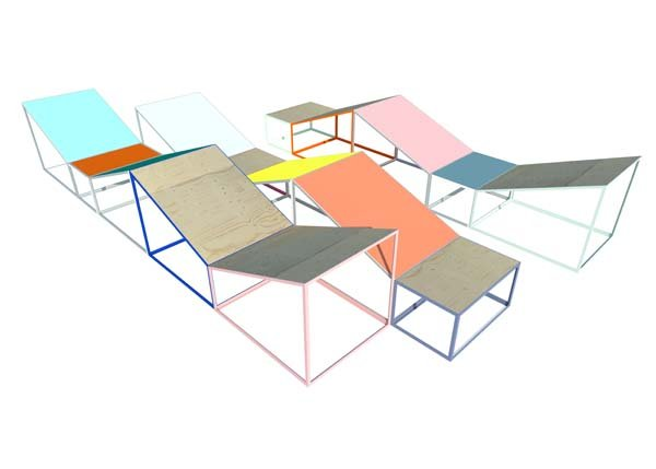 "Rodney LaTourelle's design for his site-specific installation, ""Leaves."""