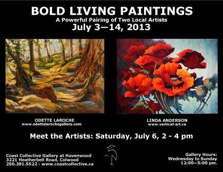 """""""Bold Living Paintings"""" poster"""