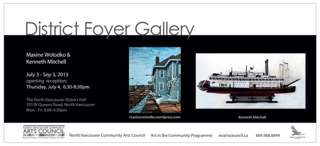"""Kenneth Roy Mitchell and Maxine Wolodko at the District Foyer Gallery"" poster"