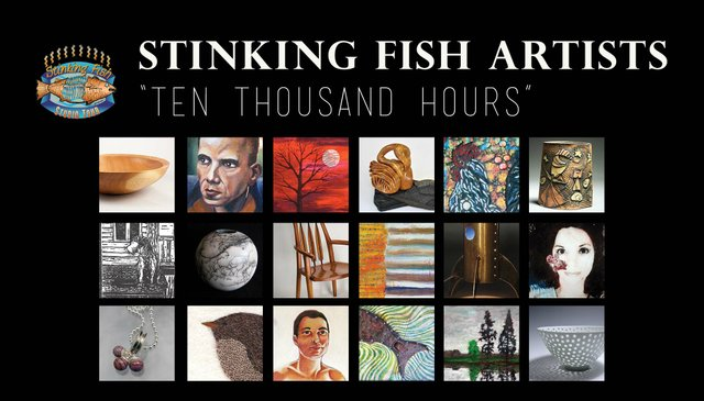 """""""Ten Thousand Hours"""" exhibition poster"""