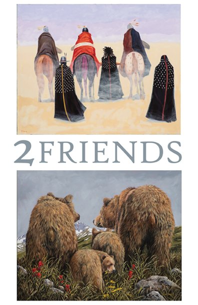 """2 FRIENDS"" - Terry McCue & Page Ough show poster"