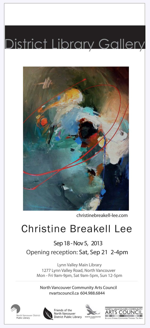 """Exhibition Poster: Christine Breakell-Lee at the District Library Gallery"""