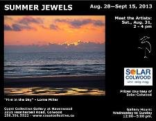 """Summer Jewels"" show poster"