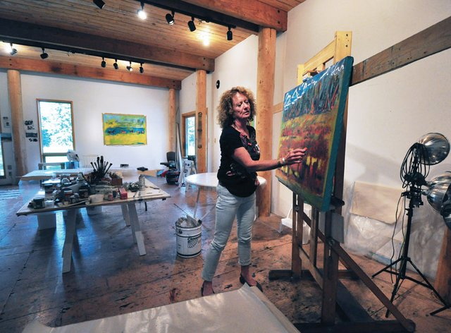 """Maureen Enns in her studio"""