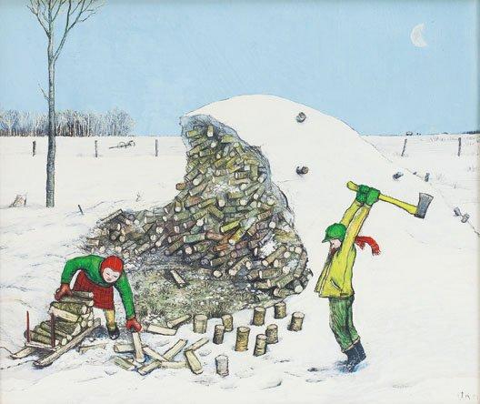 """""""Prairie Children Fetching Firewood"""""""