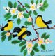 """Untitled - Birds with Apple Blossoms"""
