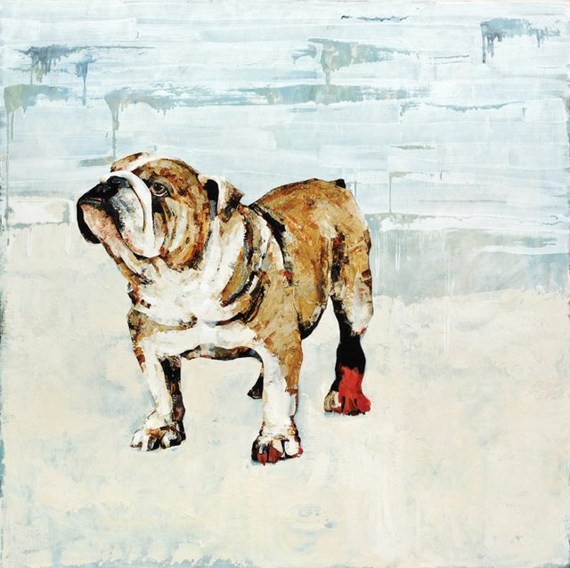 """Bulldog with Red Foot"""