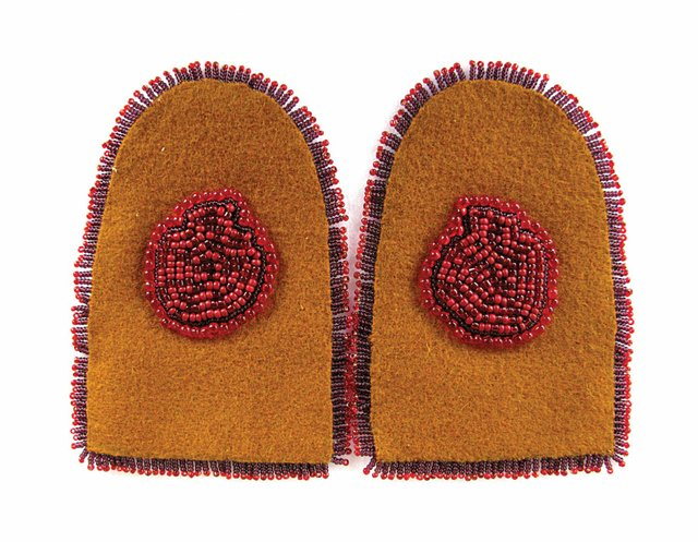 """Moccasin tops created by Vanessa Dion Fletcher"""