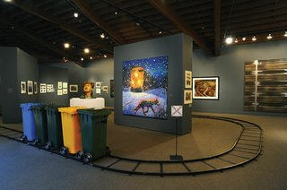 """Installation view of Picturing the Canadian Pacific Railway at the Whyte Museum of the Canadian Rockies"""