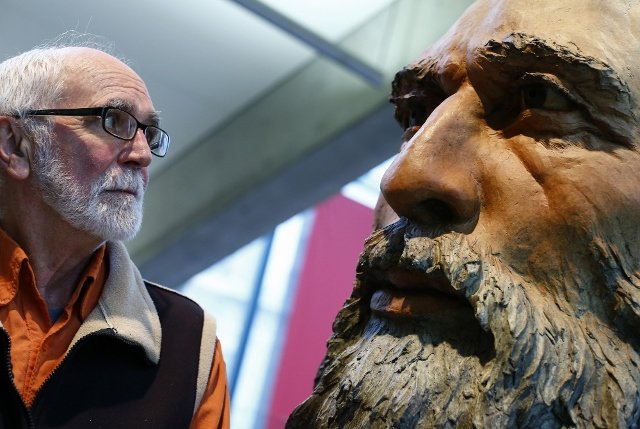 """From Joe and Joel Fafard tour, """"A Tune to Art: Sculpture and Song"""""""