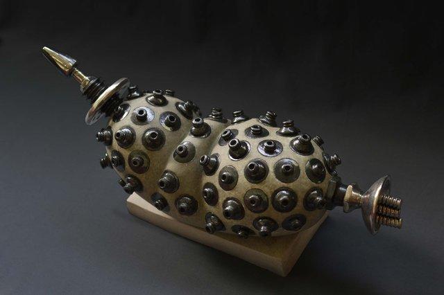 "Amy Chang ""Organ #3 (Grey organ with missile head), 2012"