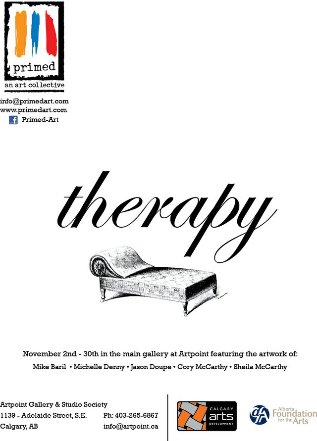 """Therapy"" show poster"