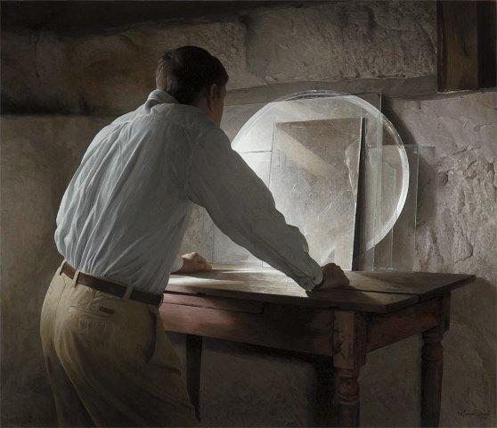 "Richard Davis, ""Basement Self Portrait"""