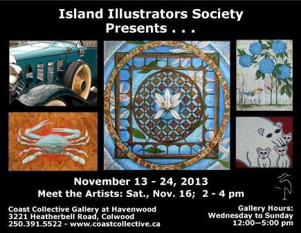 """Island Illustrator's Society Presents"" poster"
