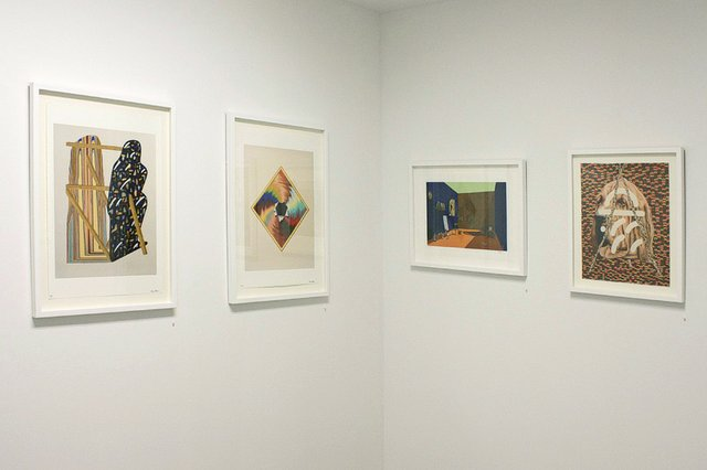 """Paper Trail"" Group exhibition, installation view"