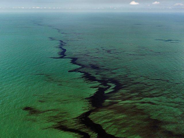"""Oil Spill #10, Oil Slick, Gulf of Mexico, June 24"""