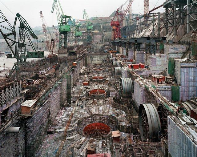 """Dam #6, Three Gorges Dam Project, Yangtze River, China"""