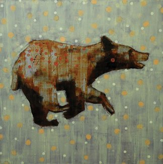 """Animal Painting #013-0830 (cinnamon bear)"""