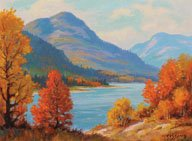 """Mountain Landscape, Autumn"""