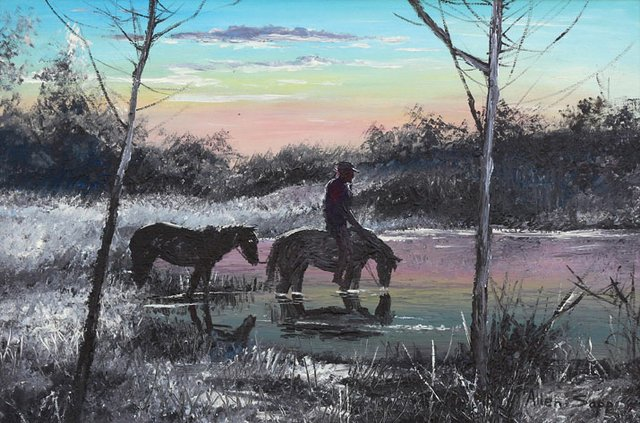 """Watering the Horses"""