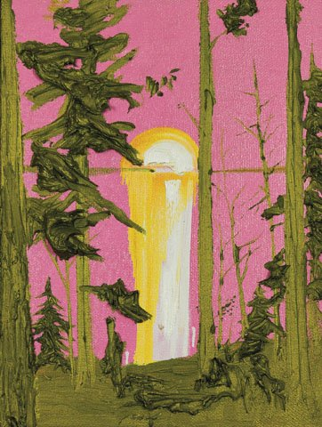 "Kim Dorland  ""Untitled (Pink and Green Sunset)"""