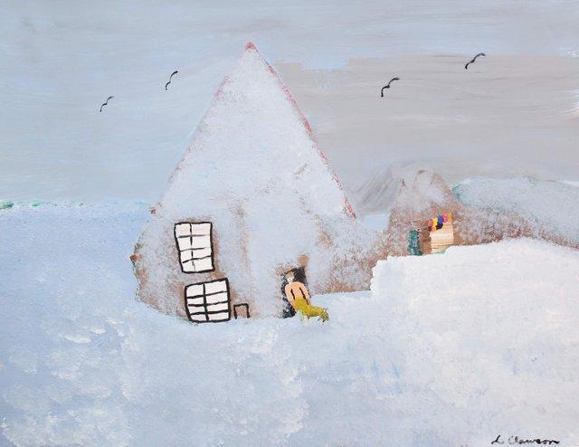 """Homestead in Winter"""