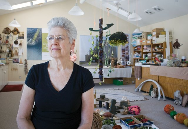 Lyndal Osborne in her studio