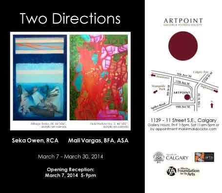 """Two Directions"" exhibition poster"