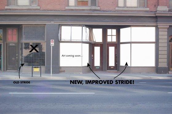 Stride front windows