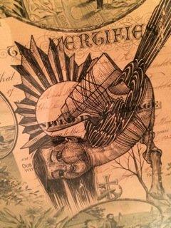"""Karrie Arthurs """"Flightless Bird"""" (detail)"""