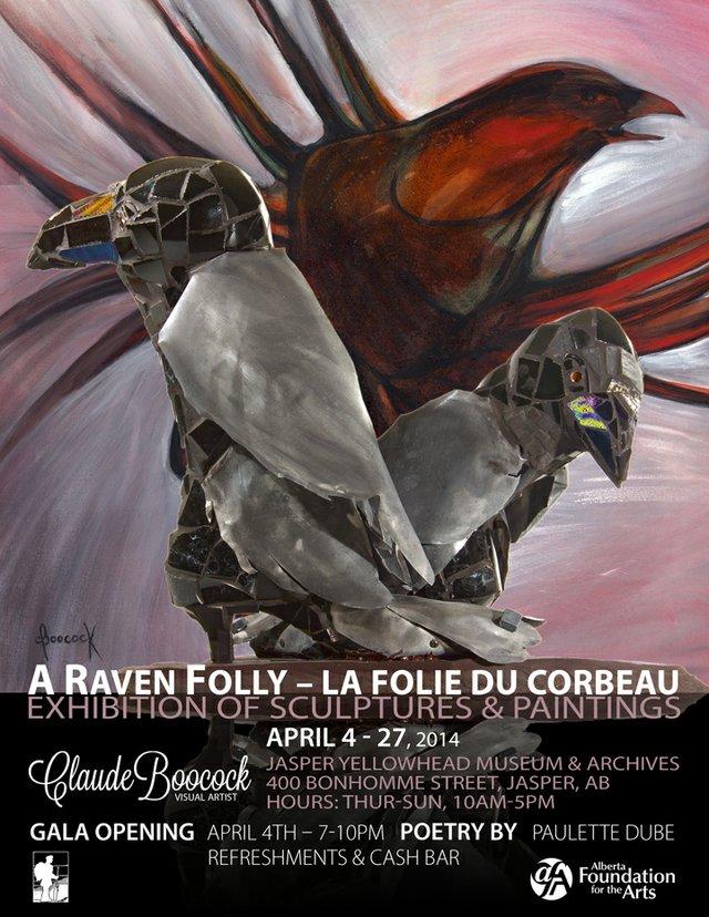 """""""A Raven Folly"""" exhibition poster"""