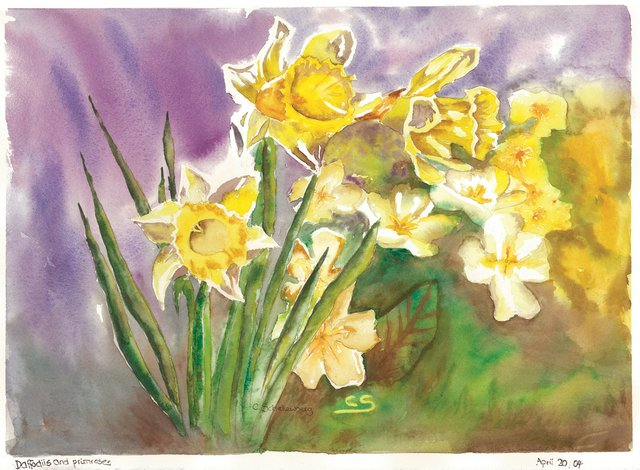 """Daffodils and Primroses"""