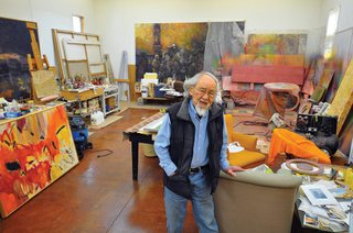 """Harry Kiyooka in his studio"""