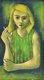 """""""Woman / Green Striped Blouse"""""""