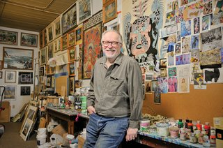 """David Thauberger in his Regina studio"""