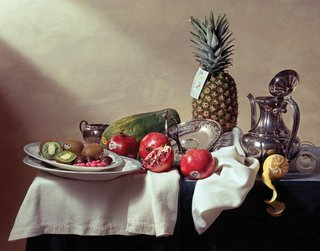 """Still Life with 4030 (New Zealand), 4927 (Italy), 4940 (USA), 3127 (Mexico), 4433 (Panama) and 4958 (Mexico)"""