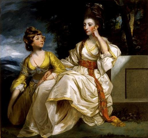 """Mrs. Thrale and Her Daughter Hester (Queene)"""