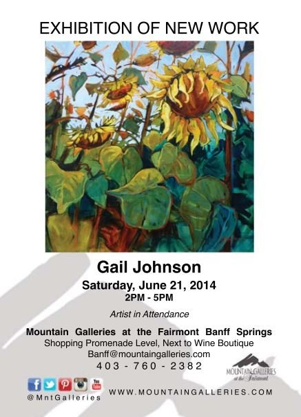 Gail Johnson exhibition poster