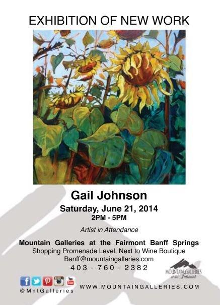 Gail Johnson exhibition poster