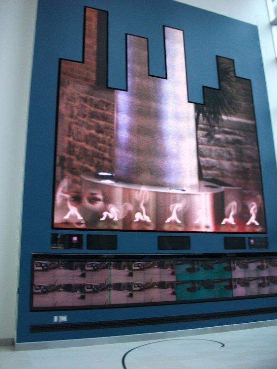 Lobby video wall at 150 Elgin